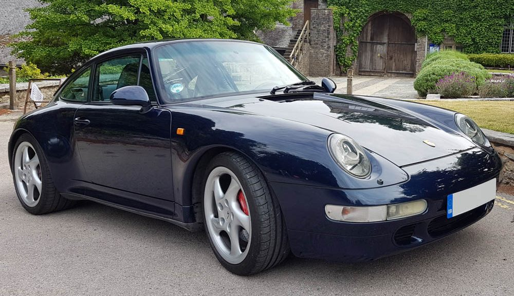 Front view of 1998 Porsche 993 Carrera 4 S manual coupe LHD for sale