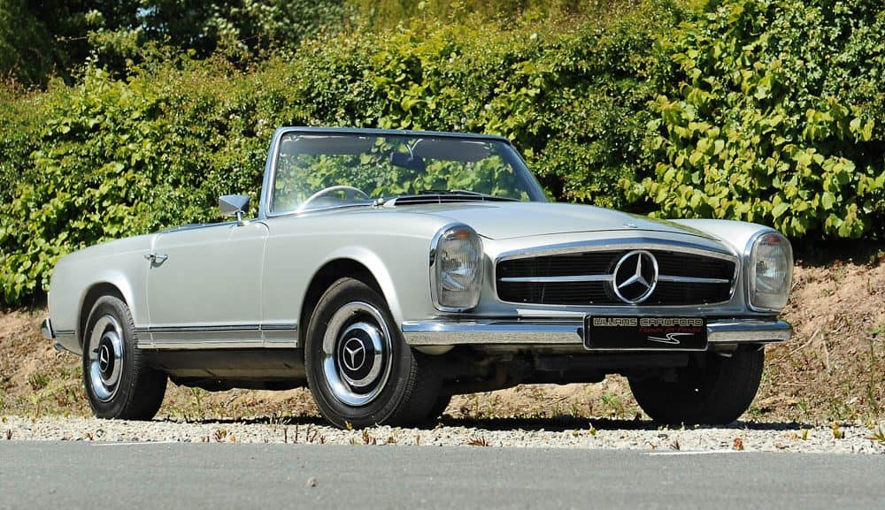 Front view of 1967 Mercedes Benz 250 SL Pagoda manual for sale