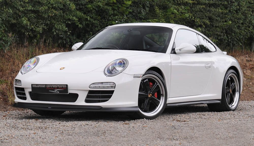 Front view of 2009 model year Porsche 997 (Gen II) Carrera 4 S PDK coupe with Moshammer aerokit for sale
