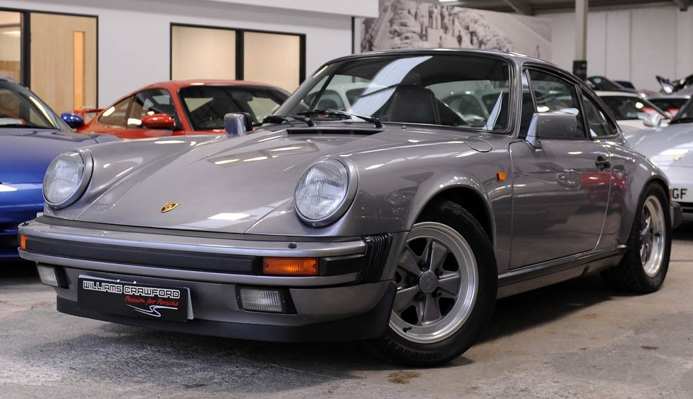 Front view of 1987 Porsche 911 3.2 Carrera Sport manual coupe for sale