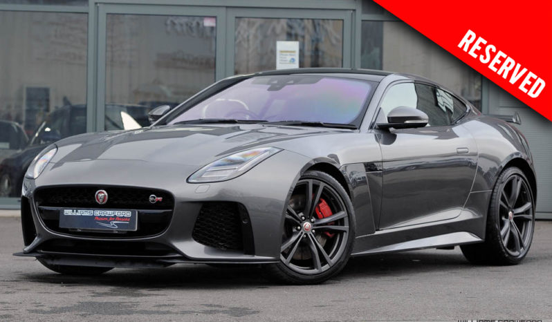 RESERVED – Jaguar F Type SVR auto coupe 2019 model year