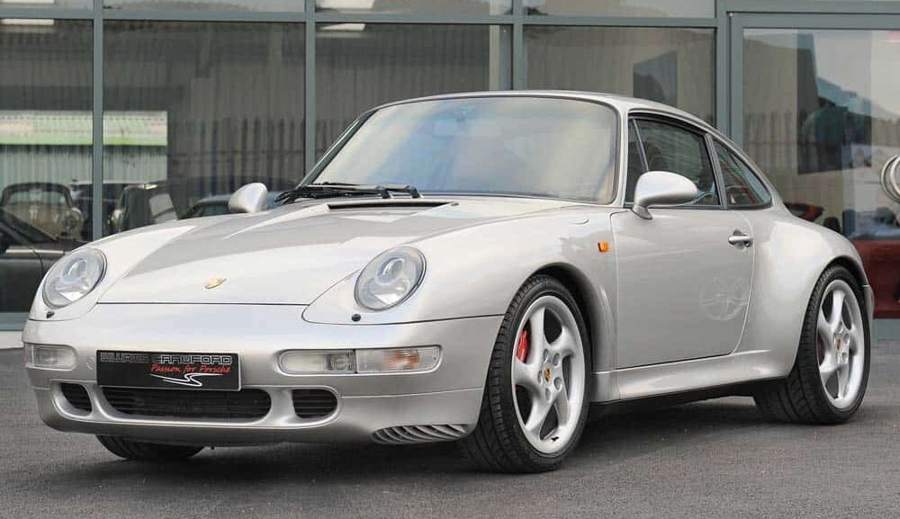 Front view of 1998 Porsche 993 Carrera 4 S manual for sale at Williams Crawford
