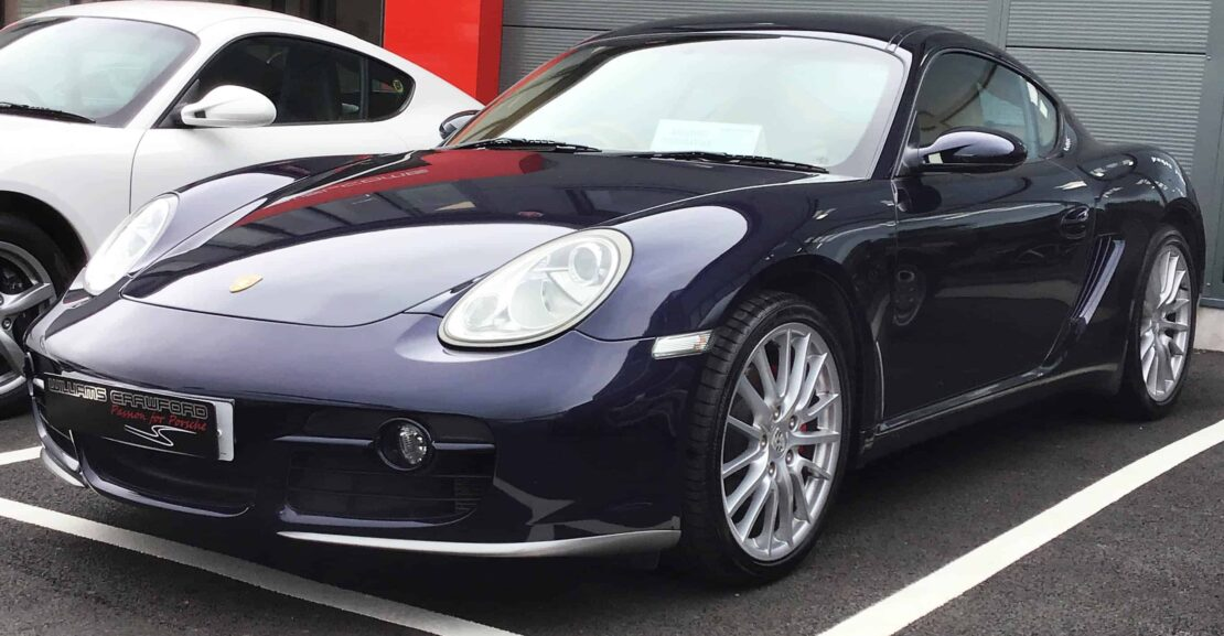 Front view of 2006 Porsche 987 Cayman S manual for sale