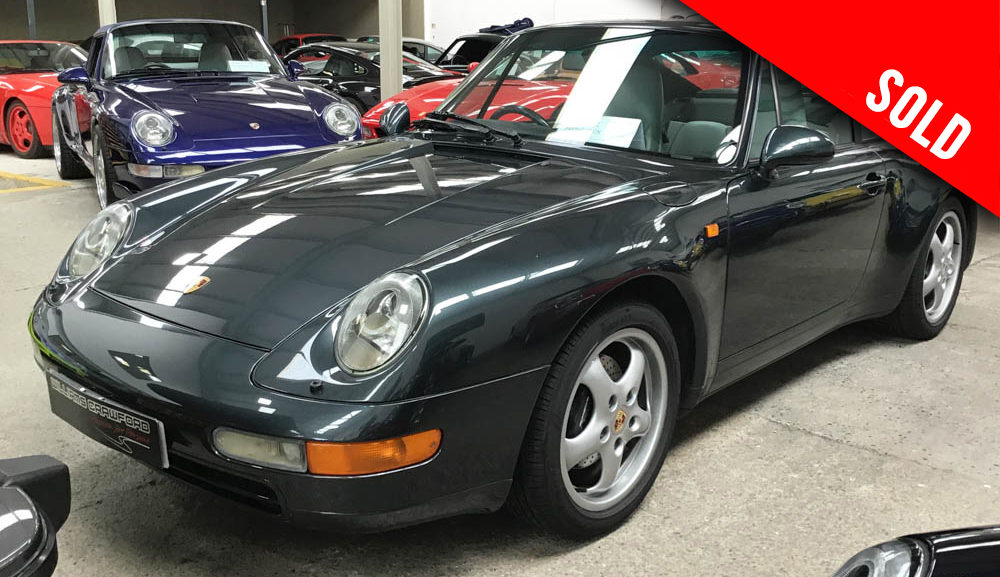 1995 model year Porsche 993 Carrera 2 manual coupe sold by Williams Crawford