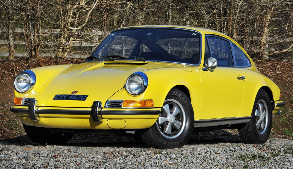 Front view of 1969 Porsche 911 E 2.0 LHD coupe for sale