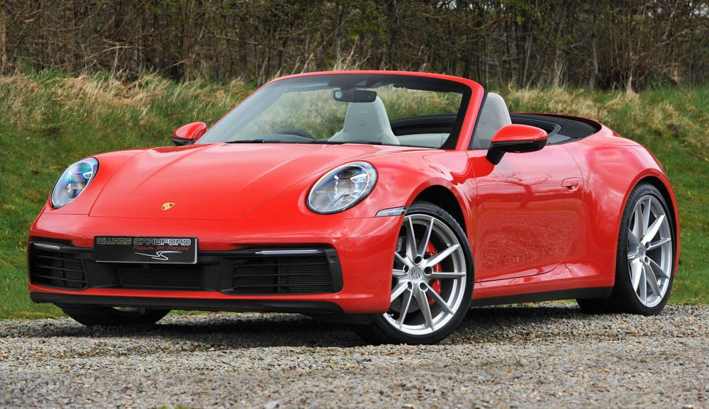 Front view of 2020 Porsche 992 Carrera 2 S PDK cabriolet for sale