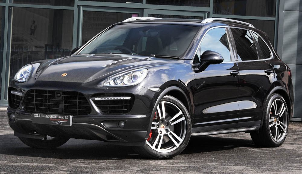 Front view of 2011 model year Porsche Cayenne Turbo Tiptronic S for sale