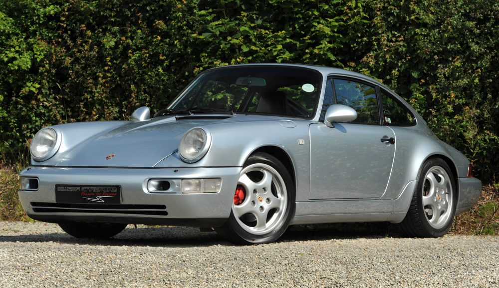 Front view of 1990 Porsche 964 Carrera 4 manual coupe for sale