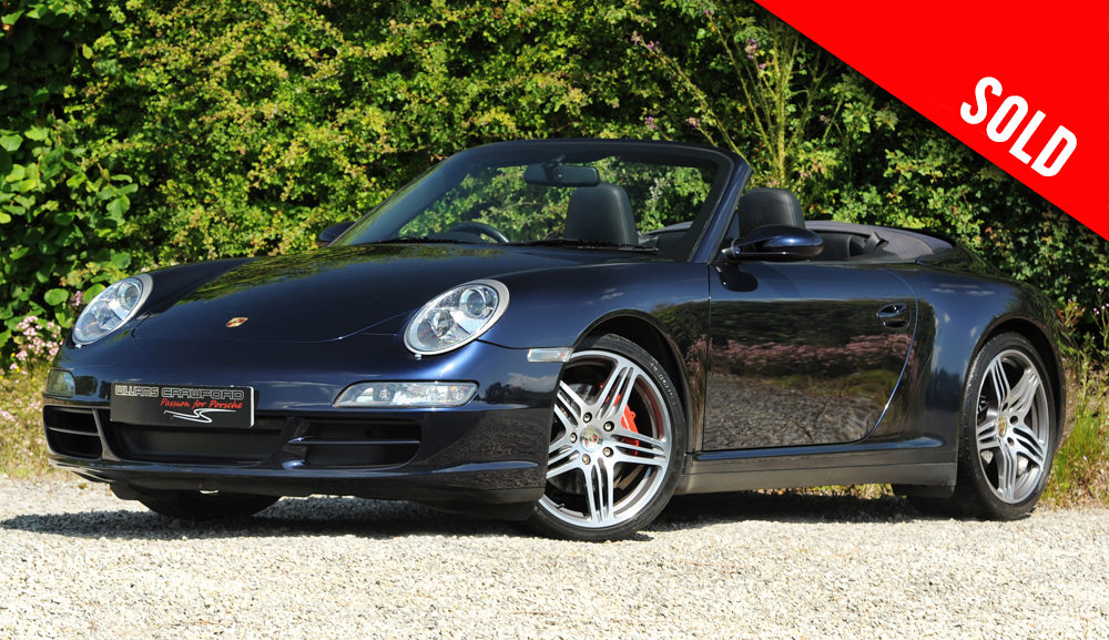 2007 model year Porsche 997 Carrera 4 S manual cabriolet sold by Williams Crawford