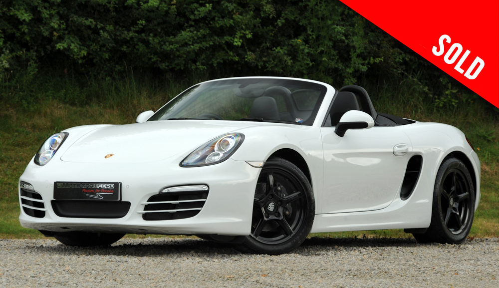 2014 model year Porsche 981 Boxster manual sold by Williams Crawford
