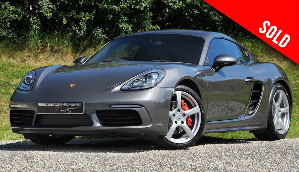 2017 model year Porsche Cayman S 718 manual sold by Williams Crawford