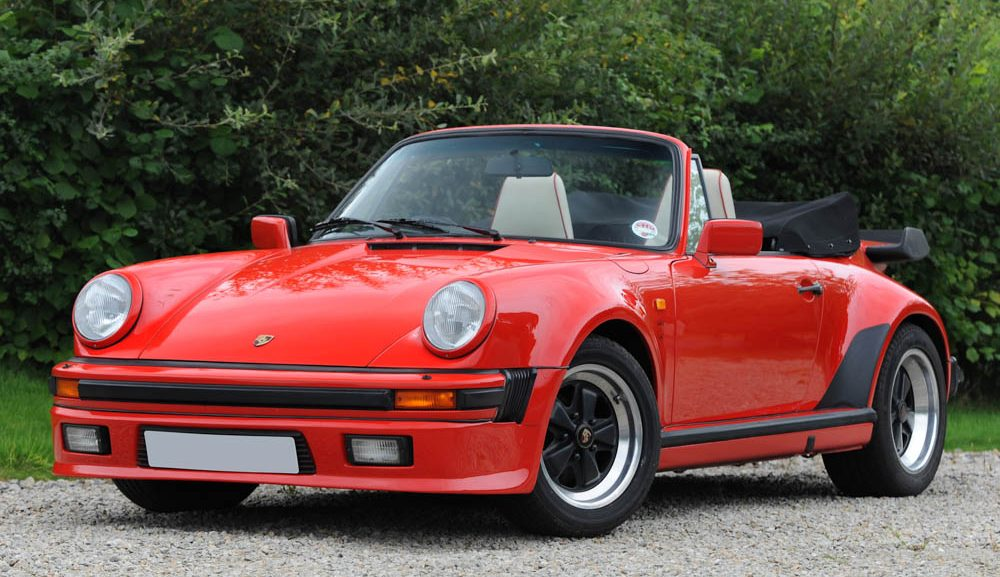 Front view of 1988 Porsche Carrera 3.2 Supersport (M491) cabriolet for sale