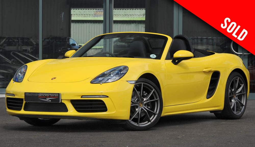 2017 Porsche Boxster 718 manual in Racing yellow sold by Williams Crawford