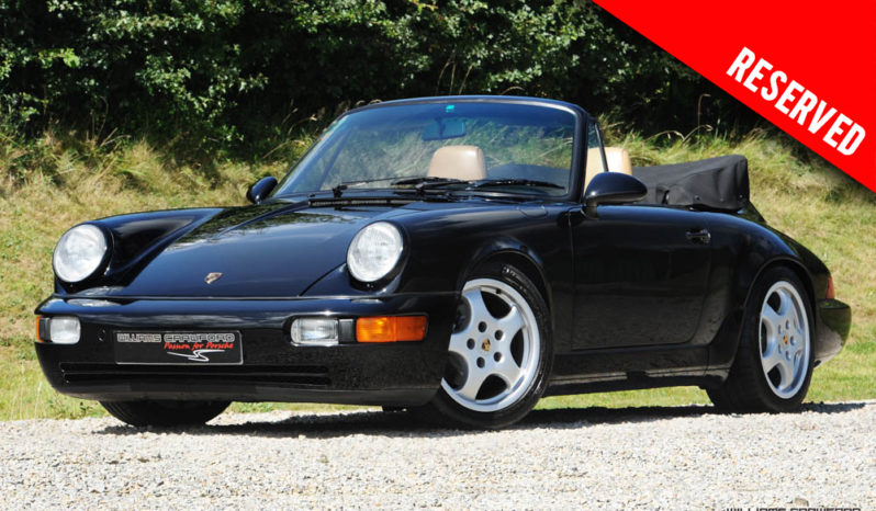 RESERVED – Porsche 964 Carrera 2 LHD manual cabriolet 1990