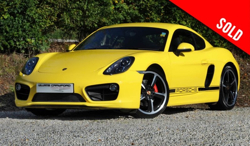 2014 model year Porsche 981 Cayman S manual in Racing yellow SOLD