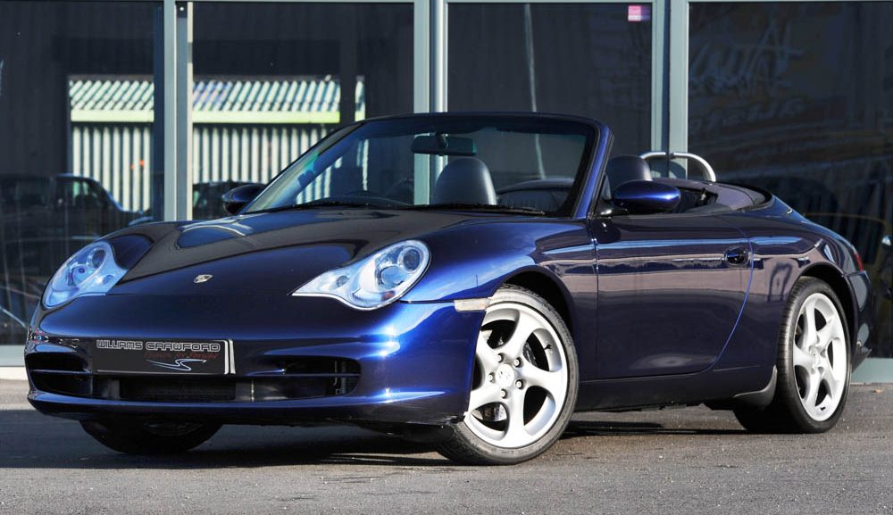 Front view of 2003 Porsche 996 Carrera 2 Tiptronic S cabriolet for sale