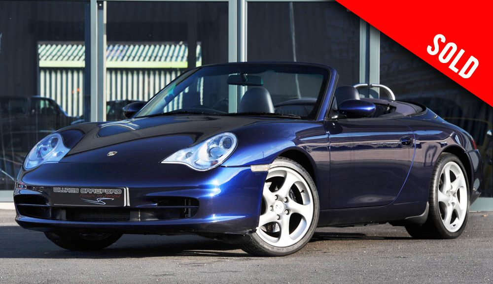 2003 model year Porsche 996 Carrera 2 Tiptronic S cabriolet sold by Williams Crawford
