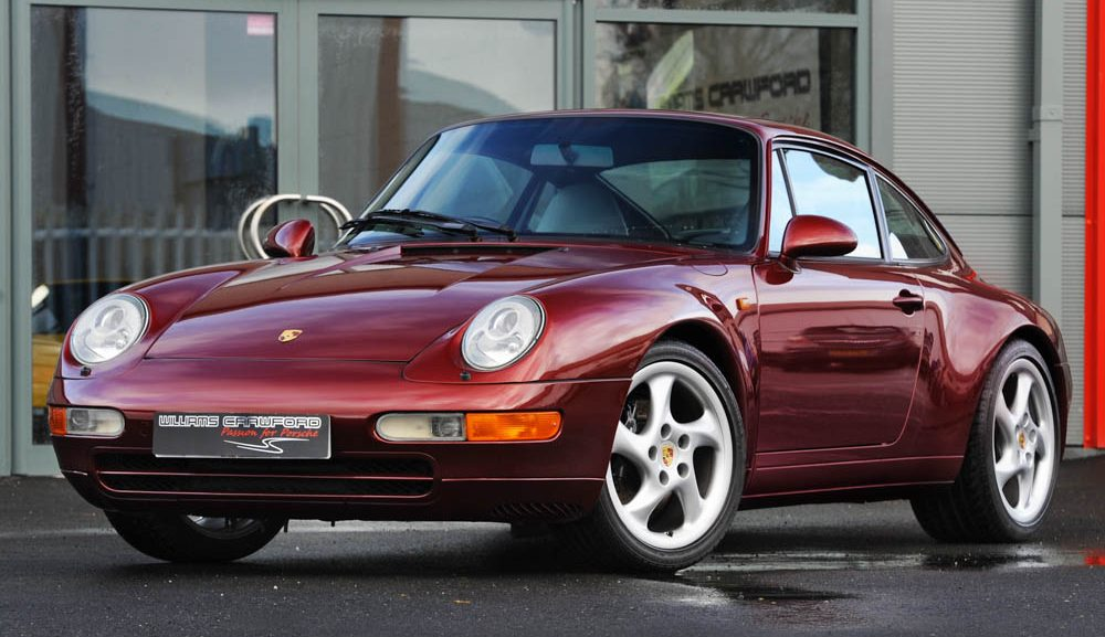 Front view of 1996 Porsche 993 Carrera 2 manual coupe for sale
