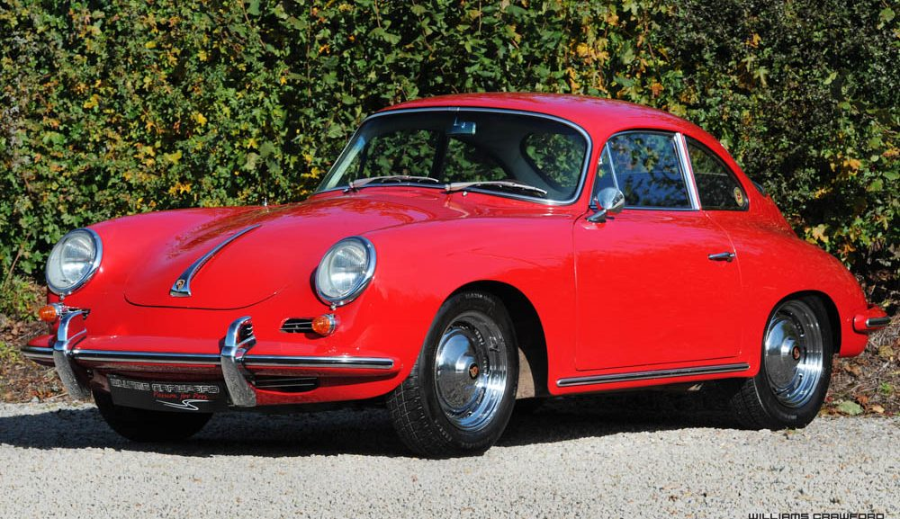 Front view of 1963 Porsche 356 B (T6) LHD coupe by Karmann for sale