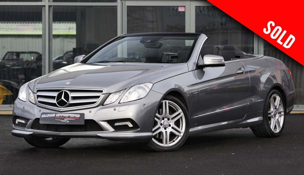 Mercedes Benz E350 CDI Sport Edition cabriolet auto 2012 model year sold by Williams Crawford