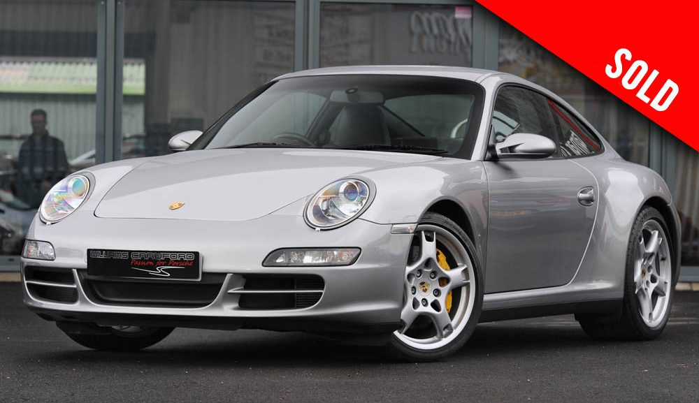 2006 model year Porsche 997 Carrera 4 S manual coupe with PCCB sold by Williams Crawford