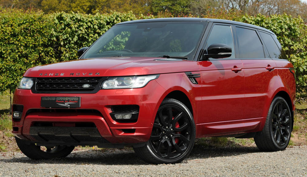 Front view of 2014 Land Rover Ranger Rover Sport Autobiography Dynamic SDV8 auto Firenze red for sale