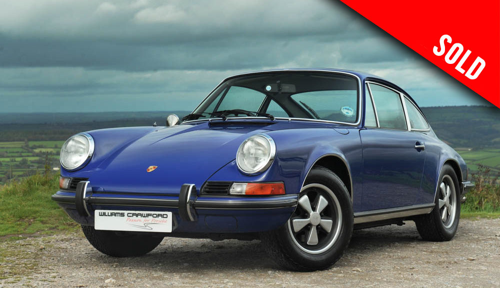 1973 model year Porsche 911 T 'Lux' 2.4 coupe RHD sold by Williams Crawford
